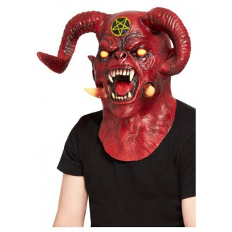 Čert - Mikuláš - Anděl - Maska Čert Satan deluxe