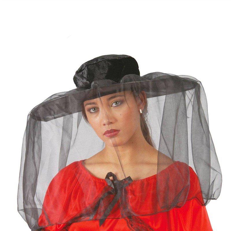 8eb1f16a26a Klobouky - čepice - čelenky - klobouk Španělka se závojem