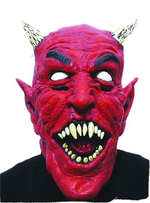 Čert - Mikuláš - Anděl - maska na čerta - Ďábel s rohy b8b46eb980