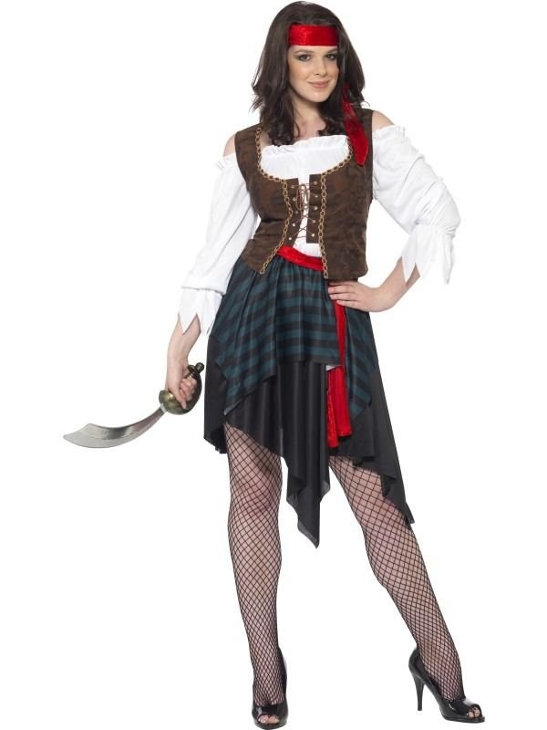Kostýmy pro dospělé - Kostým pirátka na maškarní 0bd4a40e7b0