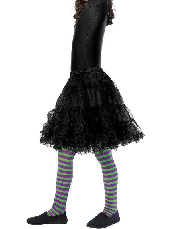 Dětské punčocháče pruhované zelená a fialová - Kostymy-karneval.cz 8392a80ff5