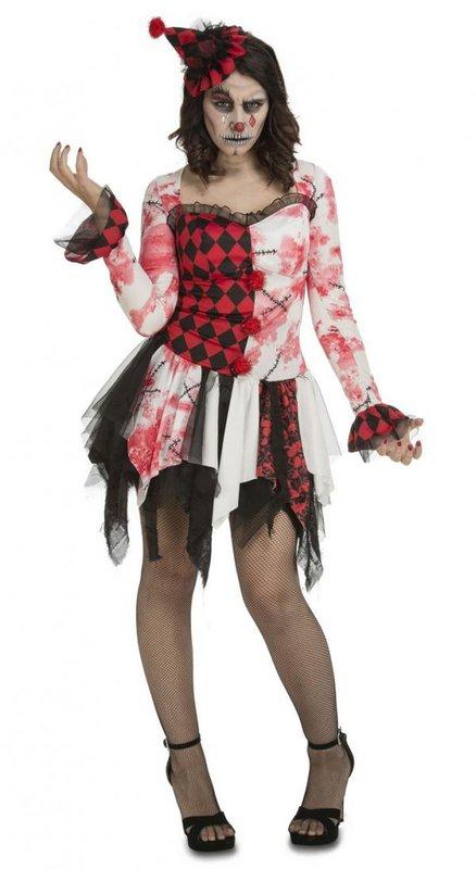 dámský kostým klauna na Halloween - Kostymy-karneval.cz 40a0deda179