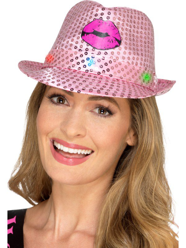 Klobouky - čepice - čelenky - Svítící klobouk na párty 6387f2f762