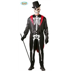 Pánský kostým halloween kostlivec