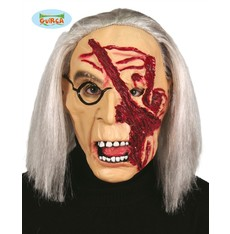 Halloween maska s vlasy