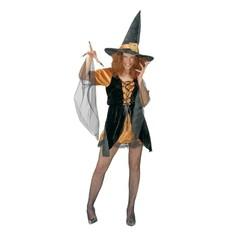 kostým Halloween  čarodejnice s kloboukem