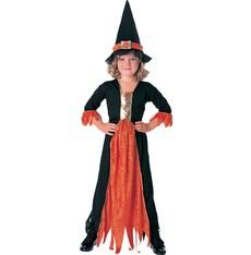 kostým dětská čarodějnice s kloboukem