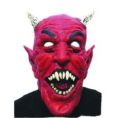 maska  na čerta - Ďábel s rohy