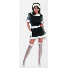 kostým 60-tá léta - černobílé šaty