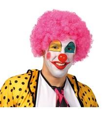 paruka klauna - růžová