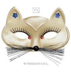 škraboška Kočka -zlatá