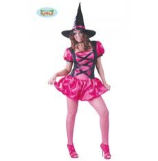 kostým čarodejnice růžový