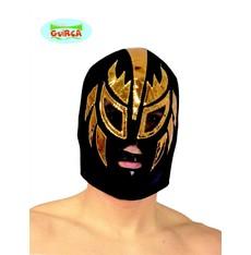 Černá maska se zlatým zdobením