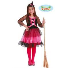 Dětský kostým čarodějnice růžová