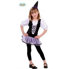 Děský kostým čarodějnice fialová