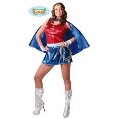 Dámský kostým superhrdiny - supermanka