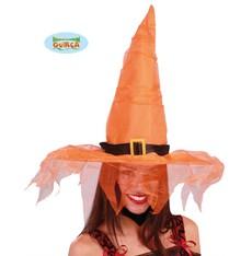 Čarodějnice klobouk oranžový