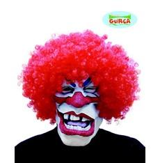 maska klauna s vlasy