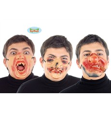 latexové polomasky na obličej