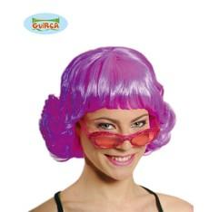 růžová dámská paruka disco