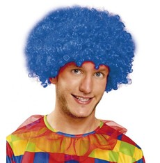 Paruka Kudrnatá modrá - klaun - afro
