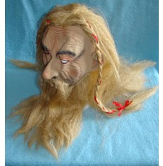 Maska s vlasy Viking