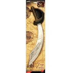 Pirátská šavle stříbrná 50 cm