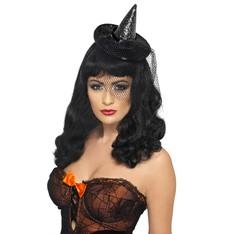Mini klobouk Čarodějnice černý