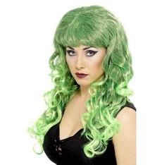 Paruka Siren Zelená/černá