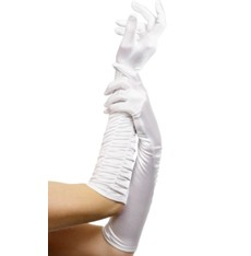 Rukavice nařasené bílé