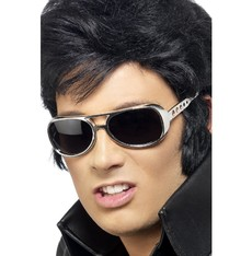 Brýle Elvis stříbrné