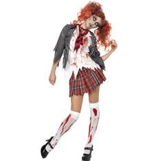 Dámský kostým High School zombie školačka
