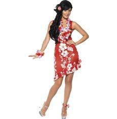 Kostým Havajská dívka červená