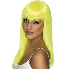 Paruka dlouhá  Glamourama neonově žlutá