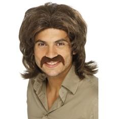 Pánská paruka 70s Guy hnědá