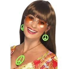 Náušnice a náhrdelník Hippies