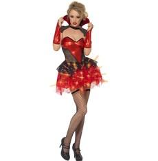 Dámský kostým Sexy vamp svítící