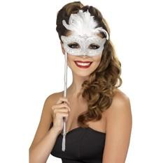 Barokní maska bílá