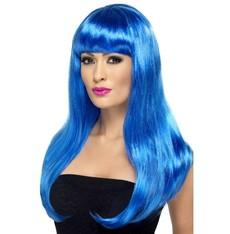 Paruka dlouhá modrá
