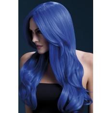 Paruka Khloe neonová modrá