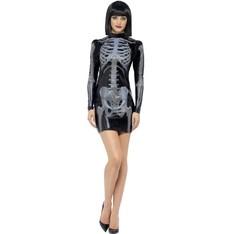 Dámský kostým Kostlivka šaty 3D