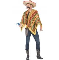 mexický kostým - Poncho s knírem