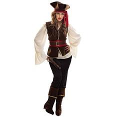 Kostým pirátka bukanýrka