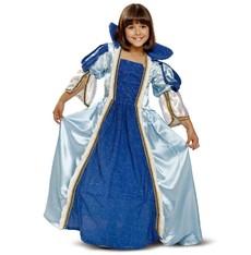 Dětský kostým Princezna - modré šaty královny