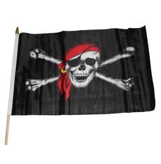 Pirátská vlajka s lebkou