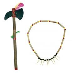 Indiánský náhrdelník a tomahawk