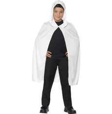 Dětský plášť bílý s kapucí