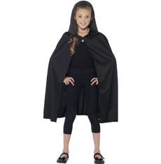 Dětský plášť černý s kapucí