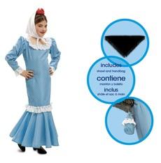 Dětský kostým Madridská dívka modrá