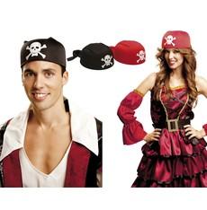 Klobouk Pirátský šátek červený